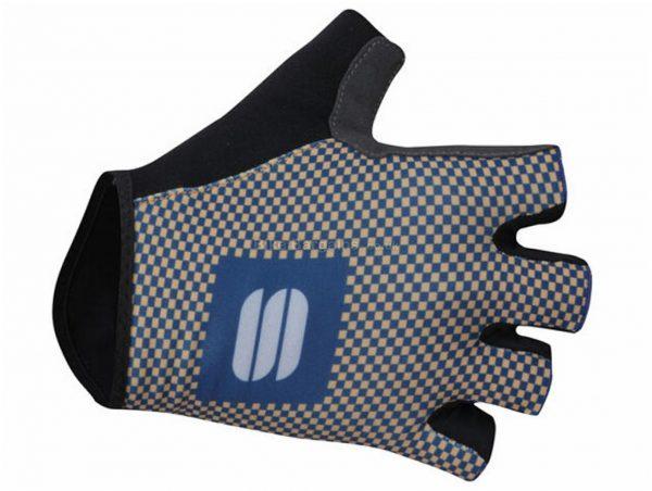 Sportful Checkmate Gloves L, Blue, White, Black, Men's, Mitts, Polyester, Gel