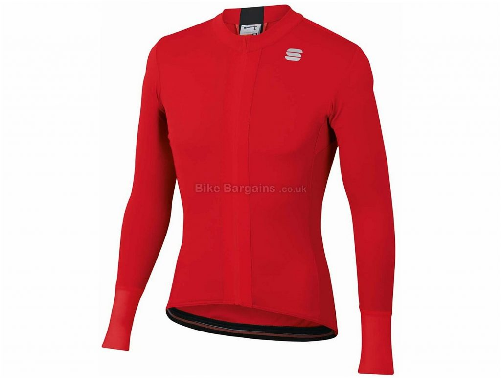 Sportful Strike Long Sleeve Jersey XXXL, Red, Black, Men's, Long Sleeve, Polyester, Elastane