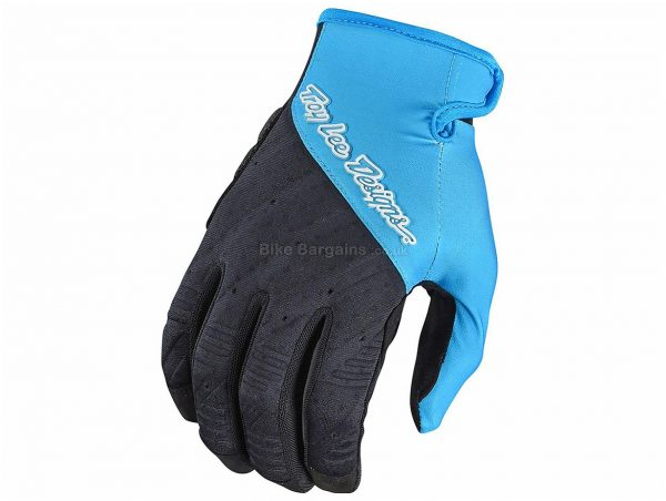 Troy Lee Designs Ruckus MTB Gloves 2018 S, Blue, Black, Full Finger, Polyester, Elastane, Neoprene