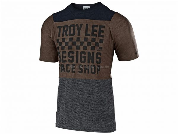 Troy Lee Designs Skyline Air Short Sleeve MTB Jersey 2019 M, White, Red, Black, Brown, Short Sleeve, Polyester, Elastane