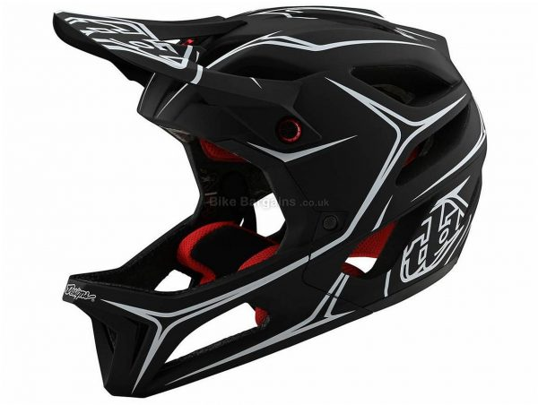 Troy Lee Designs Stage MIPS Pinstripe Full Face MTB Helmet 2020 XS,S,XL,XXL, Black, Red, 25 vents, 688g, Polycarbonate