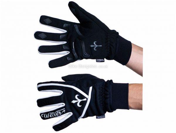 Wilier Winter Ultra-Tech Gloves XXL, Black, Unisex, Full Finger, Polyester, Silicone
