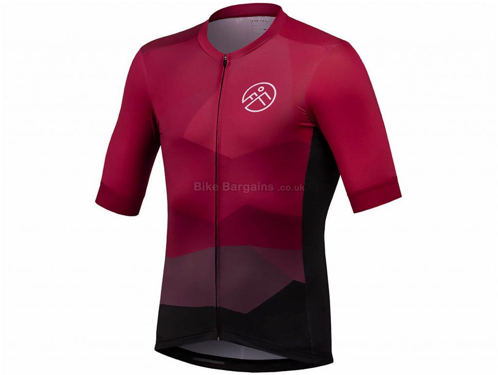 54 Degree Strato Short Sleeve Jersey XXL, Red, Black, Men's, Short Sleeve, Polyester, Elastane