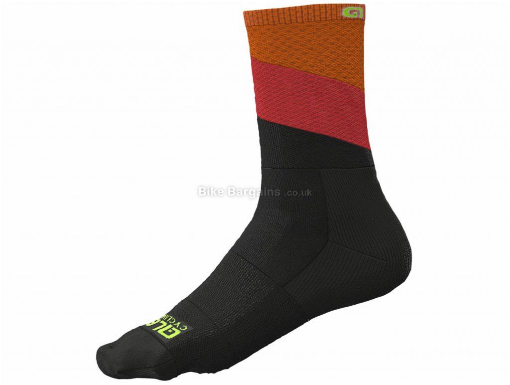 Ale Delta Socks XS, Black, Grey, Unisex, Nylon, Elastane, Polyamide