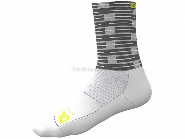 Ale Fuga Socks XS, White, Unisex, Nylon, Elastane, Polyamide