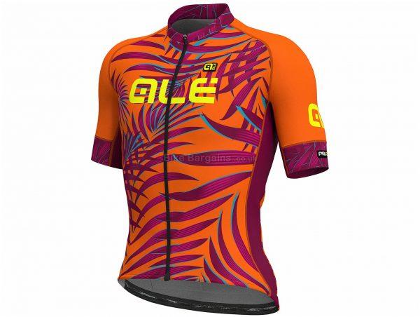Ale Graphics PRR MC Sunset Short Sleeve Jersey XXL, Black, Yellow, Blue, Men's, Short Sleeve, Polyester, Elastane
