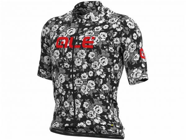 Ale Graphics PRR Roses Short Sleeve Jersey XXXL, Black, Grey, Red, Men's, Short Sleeve, Polyester, Elastane