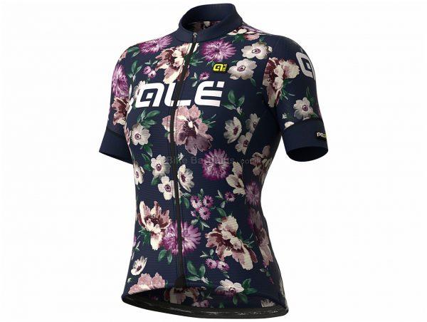 Ale Ladies Graphics PRR Fiori Short Sleeve Jersey XS,S,M,L,XL,XXL,XXXL, Black, Purple, Pink, Ladies, Short Sleeve, Polyester, Elastane