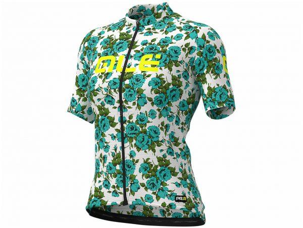 Ale Ladies Graphics PRR Roses Short Sleeve Jersey XXL, Black, White, Pink, Green, Ladies, Short Sleeve, Polyester, Elastane