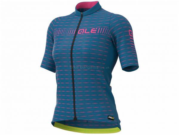 Ale Ladies PRR Green Short Sleeve Jersey L,XL, Blue, Pink, Ladies, Short Sleeve, Polyester, Elastane