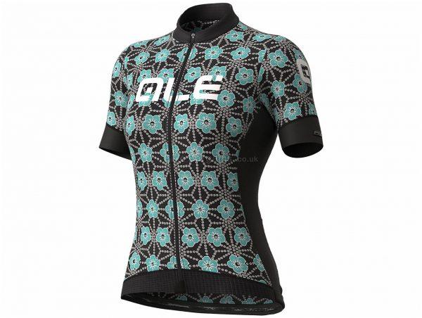 Ale Ladies PRS Garda Short Sleeve Jersey XS, Black, Turquoise, Pink, Ladies, Short Sleeve, Polyester, Elastane