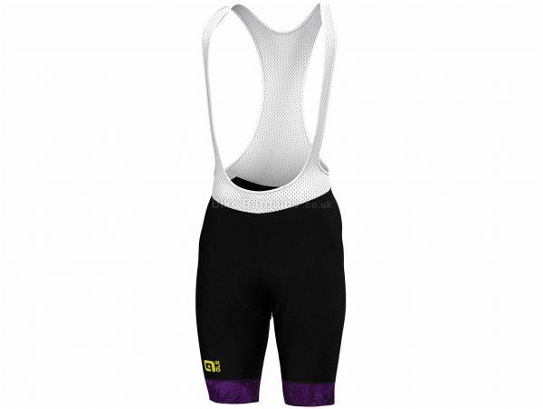 Ale Ladies Prime Floral Limited Edition Shorts XL, Black, White, Purple, Ladies, Polyester, Elastane