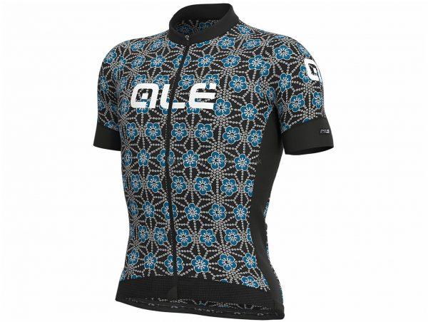 Ale PRS Garda Short Sleeve Jersey XS,S, Black, Blue, Men's, Short Sleeve, Polyester, Elastane