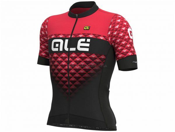 Ale PRS MC Hexa Short Sleeve Jersey XS, Black, Red, Men's, Short Sleeve, Polyester, Elastane