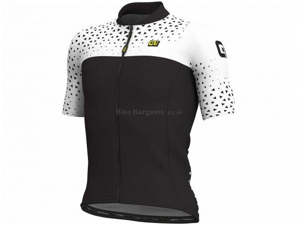 Ale Solid MC Climb Short Sleeve Jersey XL,XXXL, Yellow, Black, White, Men's, Short Sleeve, Polyester, Elastane