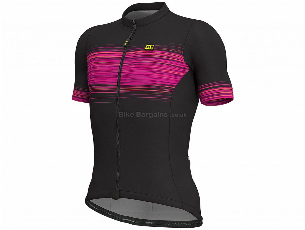 Ale Solid MC Start Short Sleeve Jersey L, Black, Yellow, Men's, Short Sleeve, Polyester, Elastane