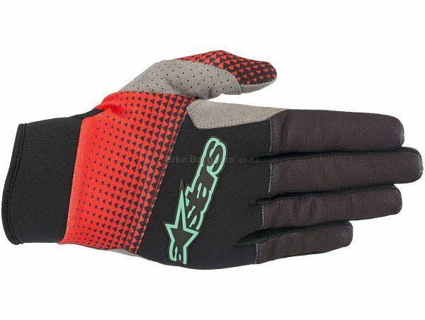 Alpinestars Cascade Pro Gloves XXL, Black, Grey, Red, Green, Turquoise, Yellow, Men's, Full Finger, Polyamide, Polyester, Polyurethane, Elastane