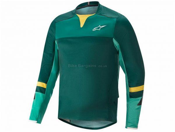 Alpinestars Drop Pro Long Sleeve Jersey S, Black, White, Orange, Men's, Long Sleeve, Polyester