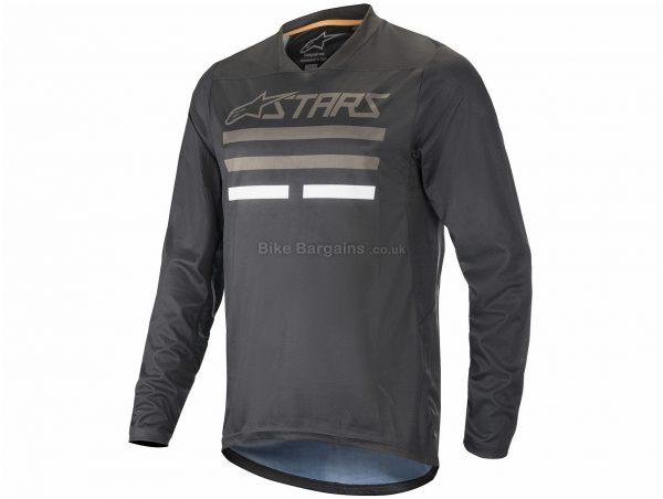 Alpinestars Mesa V2 Long Sleeve Jersey S, Red, Green, Men's, Long Sleeve, Polyester, Elastane