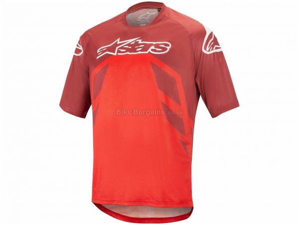 Alpinestars Racer V2 Short Sleeve Jersey S, Blue, Red, Men's, Short Sleeve, Polyester