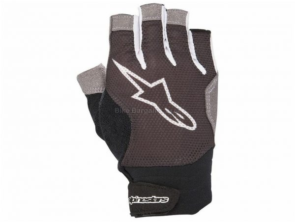 Alpinestars Rolling Short Finger Gloves XS - some are slightly extra, Black, White, Red, Men's, Mitts, Polyester, Synthetic Leather, Polyamide