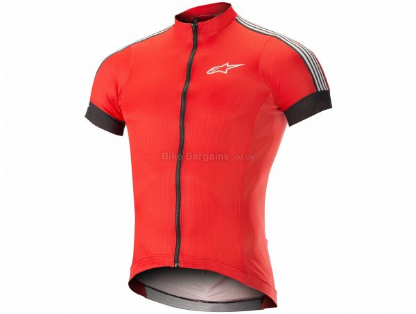 Alpinestars XC Short Sleeve Jersey S, Black, Red, Yellow, Men's, Short Sleeve, Polyester
