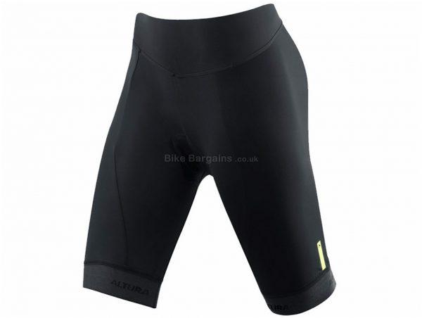 Altura Ladies Progel 3 Waist Shorts 2018 8,16, Black, Ladies, Tight, Lycra