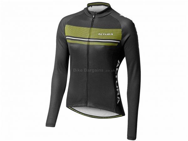 Altura Ladies Strada Long Sleeve Jersey 8, Black, Green, Ladies, Long Sleeve, Polyester