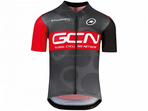 Assos GCN Pro Team Short Sleeve Jersey XS, Black, Red, Grey, Men's, Short Sleeve, Polyester, Elastane, Polyamide