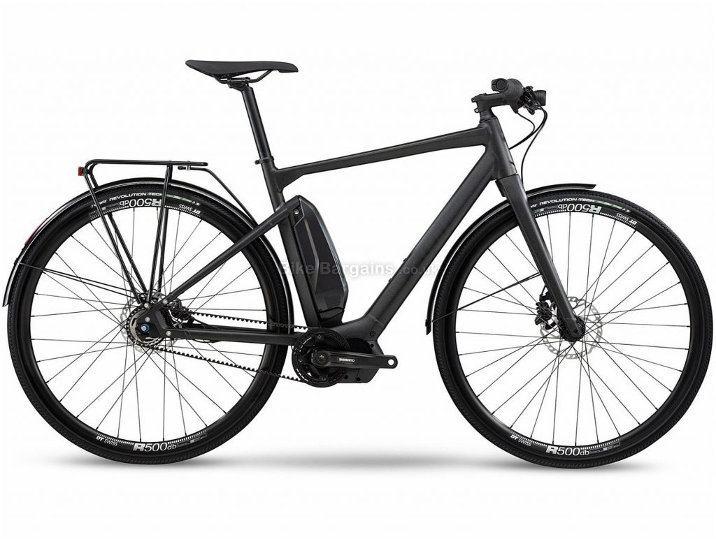 BMC Alpenchallenge AMP City Two Alloy Electric City Bike 2020 S,M,L, Black, Alloy Frame, 700c Wheels, Disc Brakes, Single Chainring, Men's, 5 Speed