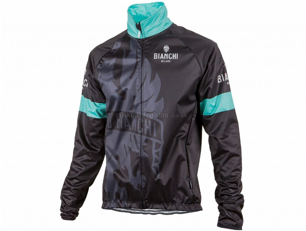 Bianchi Treviolo Jacket S, Black, Green, Men's, Long Sleeve, Polyester