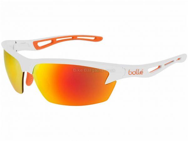 Bolle Bolt Glasses L, White, Orange, Polycarbonate