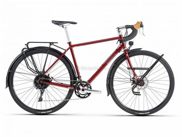 Bombtrack Arise Tour Steel Road Bike 2020 L, Red, Steel Frame, 700c Wheels, Disc Brakes, Double Chainring, Men's, 20 Speed, 14.5kg