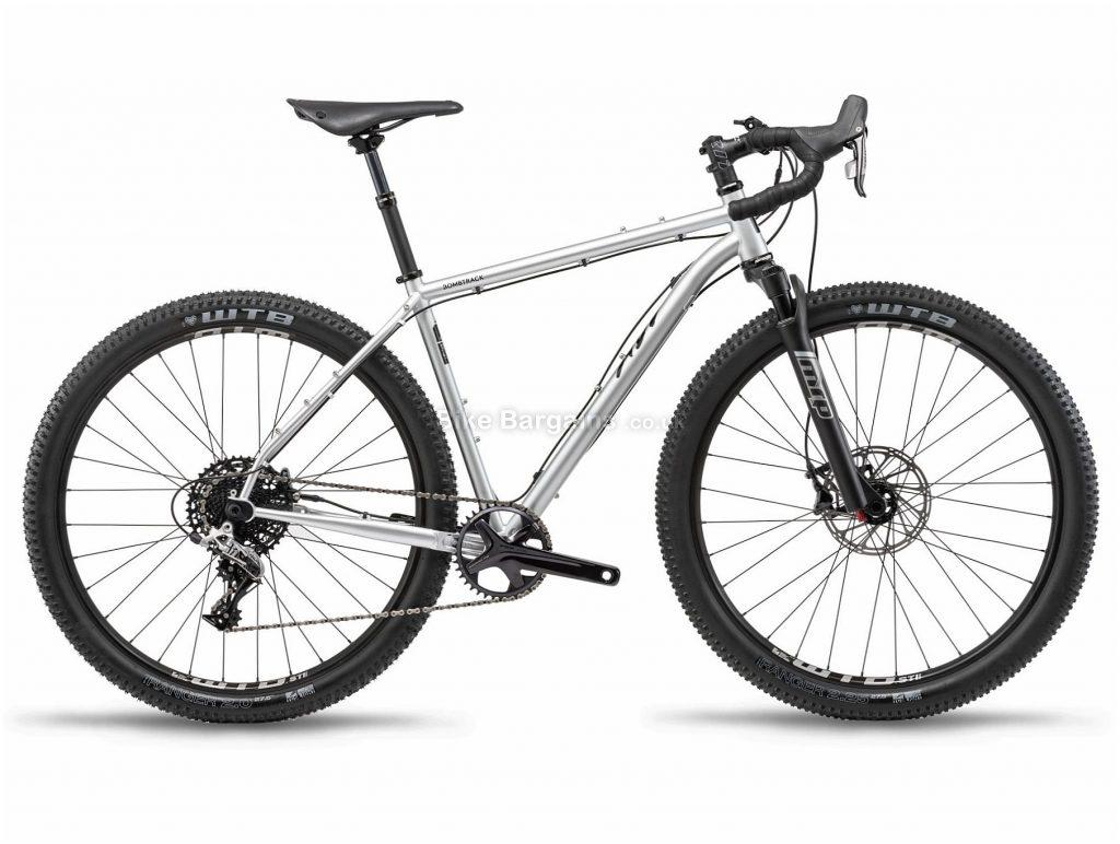 "Bombtrack Hook Adv Steel All Road Gravel Bike 2019 L, Silver, Black, Steel Frame, 27.5"" Wheels, Hardtail, Suspension Forks, Disc Brakes, Single Chainring, Men's, 11 Speed, 13.3kg"