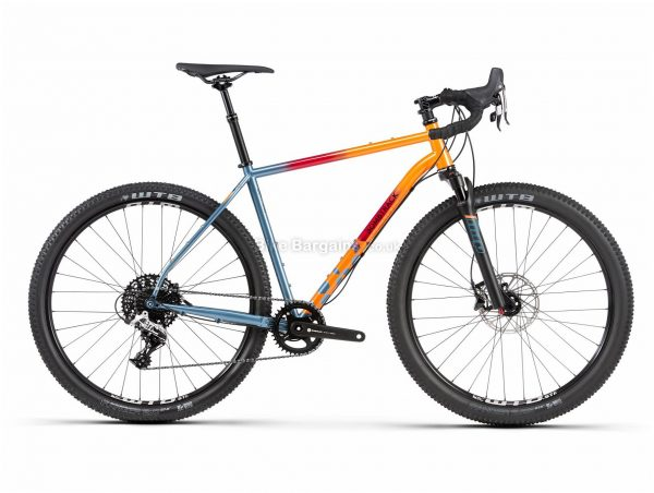"Bombtrack Hook Adv Steel All Road Gravel Bike 2020 L, Orange, Blue, Black, Steel Frame, 27.5"" Wheels, Hardtail, Suspension Forks, Disc Brakes, Single Chainring, Men's, 11 Speed, 12.8kg"