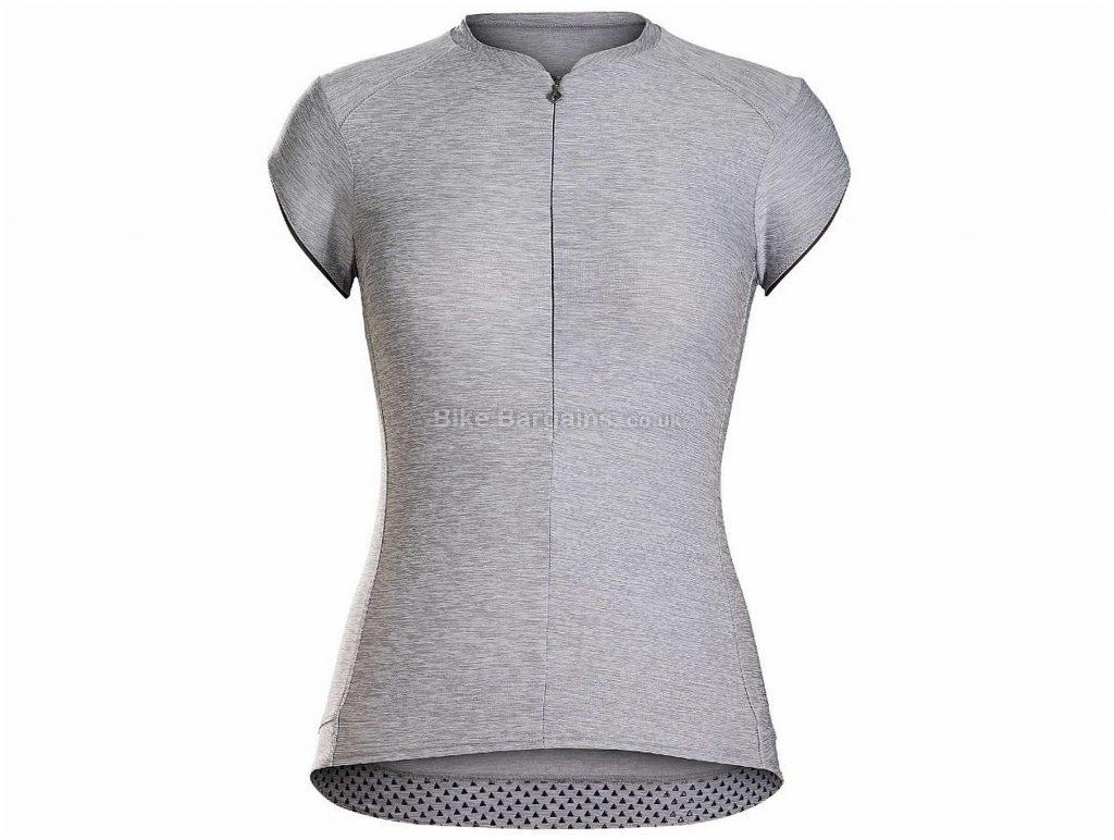 Bontrager Vella Ladies Short Sleeve Jersey L, Grey, Ladies, Short Sleeve, Polyester, Elastane