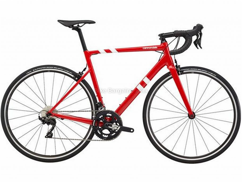 Cannondale CAAD13 105 Calipers Alloy Road Bike 2020 48cm, Red, Black, Alloy Frame, 700c Wheels, Caliper Brakes, Double Chainring, Men's, 22 Speed, 8.3kg