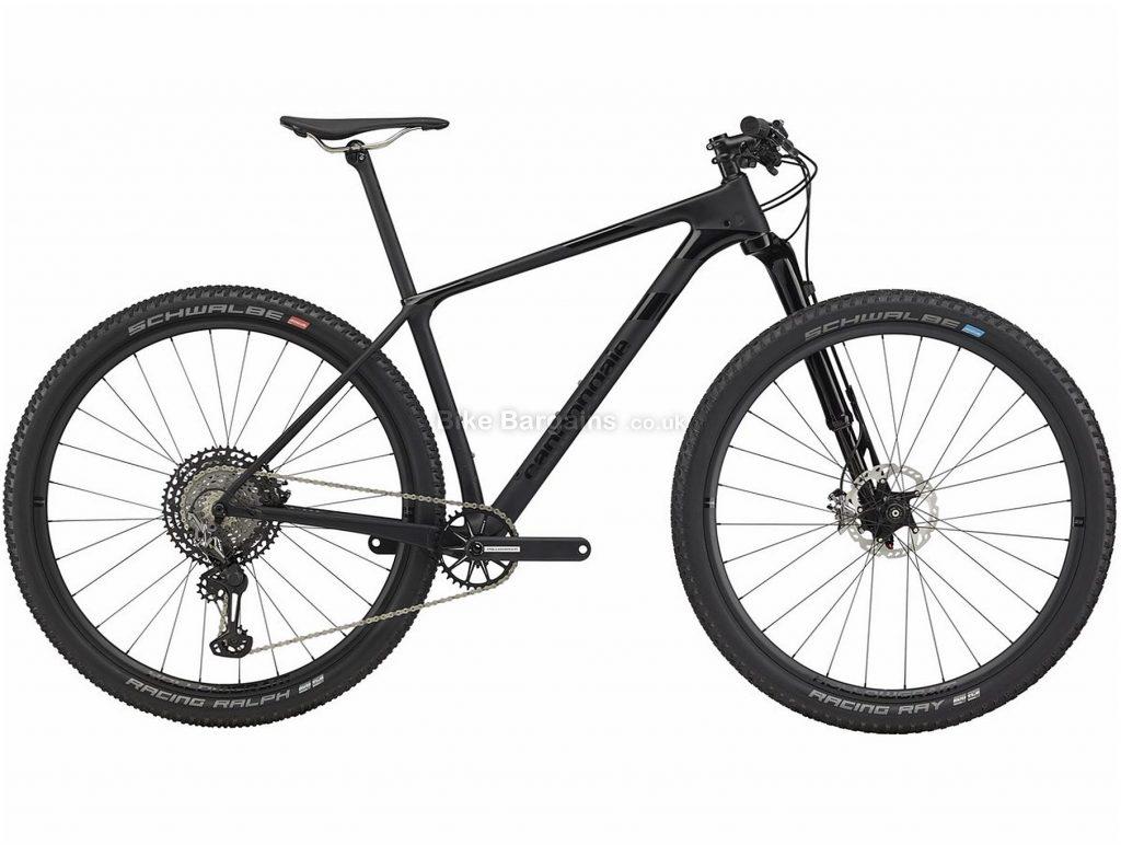 "Cannondale F-Si 1 Hi-MOD 29"" Carbon Hardtail Mountain Bike 2020 M, Black, Carbon Frame, 29"" Wheels, Hardtail, Suspension Forks, Disc Brakes, Single Chainring, Men's, 12 Speed"
