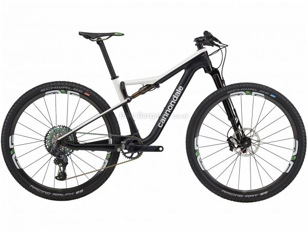 """Cannondale Scalpel Si Hi-mod World Cup Edition Carbon Full Suspension Mountain Bike 2020 L, Black, White, Carbon Frame, 27.5"""" or 29"""" Wheels, Full Suspension, Disc Brakes, Single Chainring, Men's, 12 Speed"""