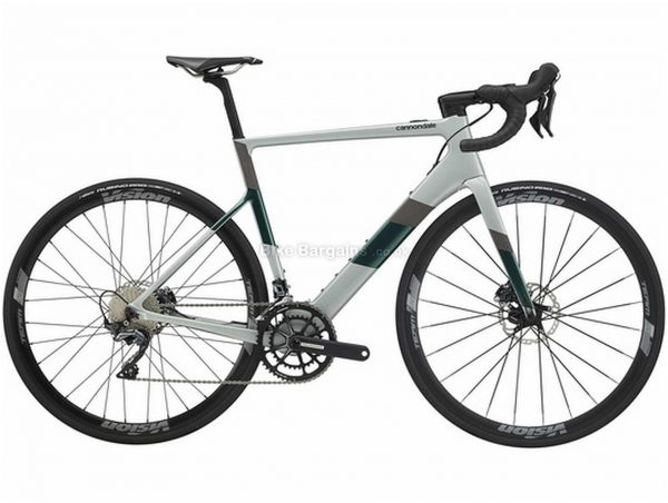 Cannondale Supersix Neo 2 Carbon Electric Road Bike 2021 M,L, Grey, Green, Carbon Frame, 700c Wheels, Disc Brakes, Double Chainring, Men's, 22 Speed