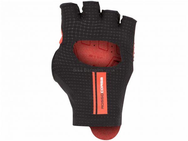 Castelli Cabrio Gloves XXL, Black, Red, Men's, Mitts, Polyamide, Elastane