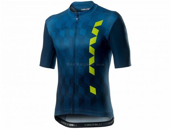 Castelli Fuori Short Sleeve Jersey XS, Blue, Men's, Short Sleeve, 151g, Polyester