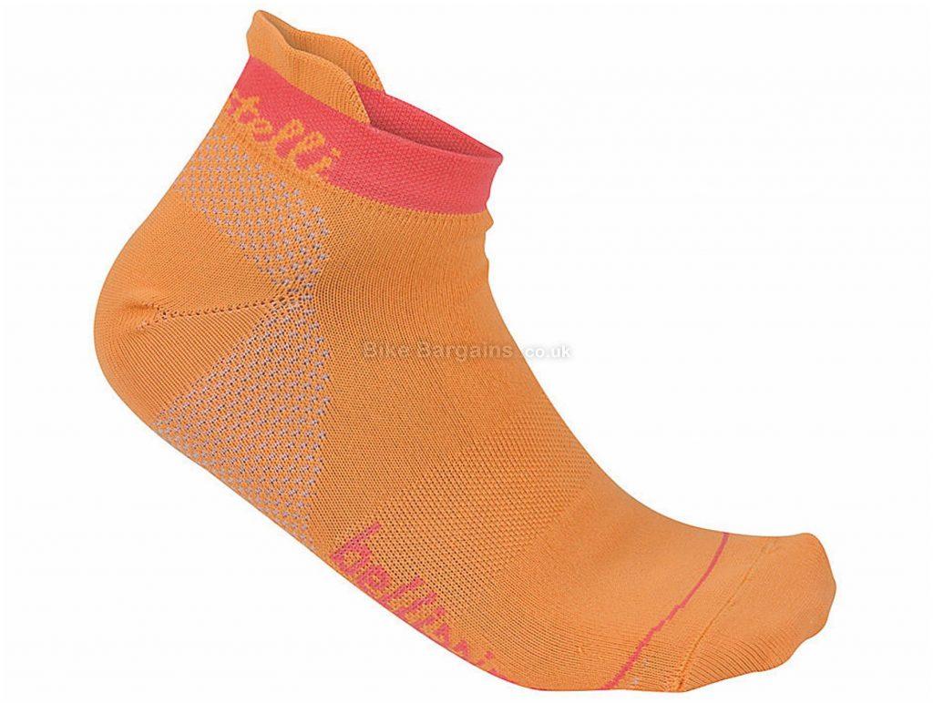 Castelli Ladies Bellissima Socks XS,M, Orange, Ladies, 49g, Polyester, Elastane