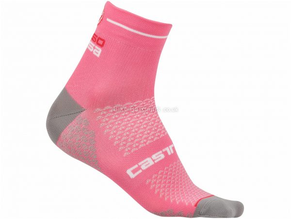 Castelli Ladies Rosa Corsa 2 Socks S,M, White, Ladies, Polyamide, Elastane