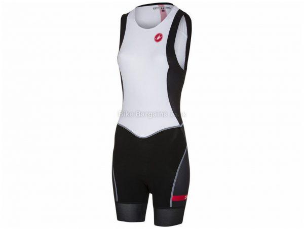 Castelli Ladies Short Distance Race Sleeveless Tri Suit M,XL, Turquoise, Black, Ladies, Sleeveless, Polyamide, Elastane, Polyester