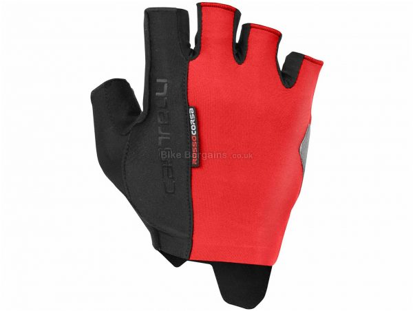 Castelli Rosso Corsa Espresso Mitts XS, Black, Red, Mitts, Polyester