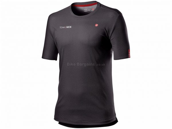 Castelli Team INEOS Tech T-Shirt S, Grey, Men's, Short Sleeve, Polyester