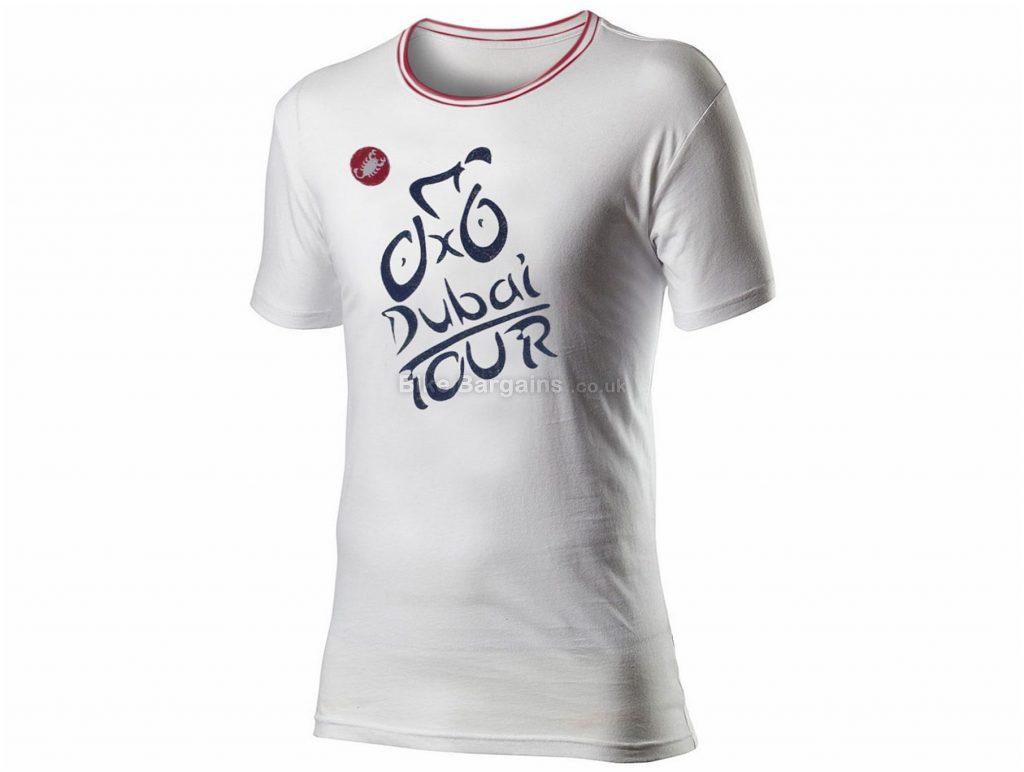 Castelli Tour of Dubai T-Shirt L,XL,XXL, White, Men's, Short Sleeve, Cotton