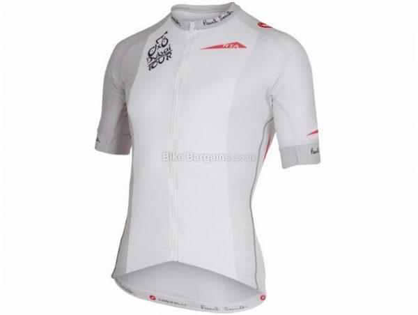 Castelli Tour of Dubai Volo Short Sleeve Jersey XL, White, Men's, Short Sleeve, Polyester