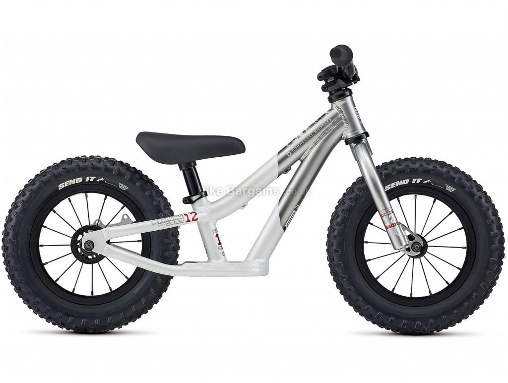 """Commencal Ramones 12 Alloy Kids Push Bike 2021 12"""", Silver, White, Turquoise, Alloy Frame, Single Speed, 12"""" Wheels, 4.5kg"""